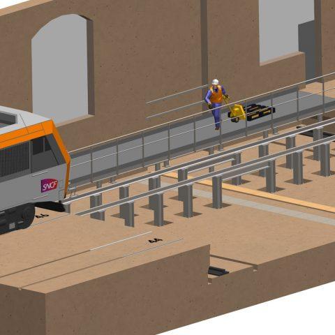 Aménagements pour atelier d'entretien SNCF