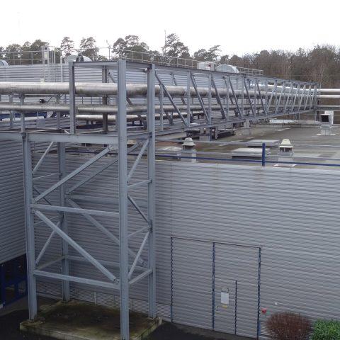 Rack et structures support d'équipements en toiture – industrie agro-alimentaire
