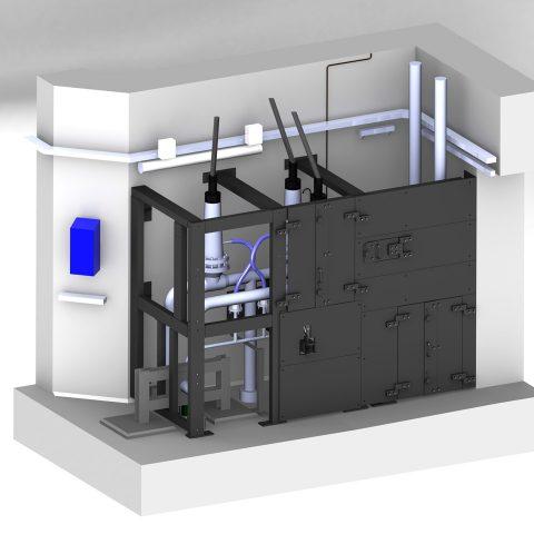 Protection biologique de vannes et tuyauteries en centrale nucléaire