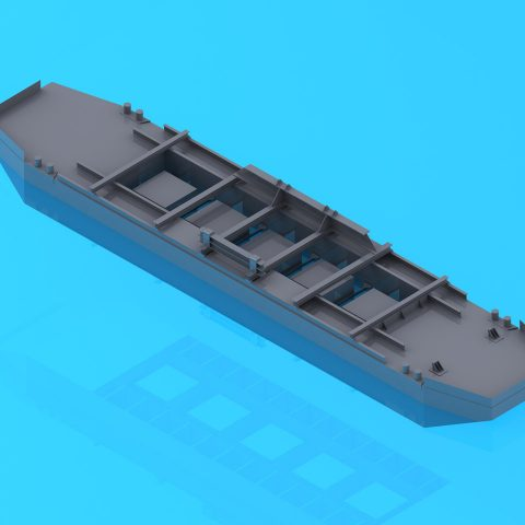 Etude de flotabilité d'une barge pour gravière