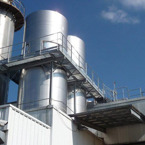 Passerelles d'accès silos de stockage – industrie agro-alimentaire
